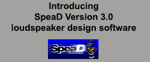 Introducing :SpeaD Version 3.0 loudspeaker design software